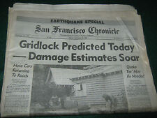 Newspaper- San Francisco, CA. Chronicle 1989 Oct. 20th EARTHQUAKE SPECIAL