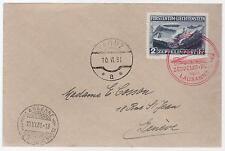 1931 Lichtenstein Graf Zeppelin LZ 127 cover to Switzerland # C 8