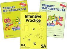 Primary Mathematics 5A SET -- Textbook, Workbook, & Intensive Practice NEW