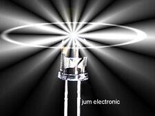 10 Stück Leuchtdioden  /  Led /  5mm  /  WEIß 2500mcd / hoher ABSTRAHLWINKEL