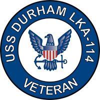 "USS Durham LKA-114 Veteran 5.5"" Sticker / Decal"