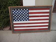 Large Rustic Wood American Flag, Wall Hanging Art, Reclaimed lumber 24 x 36