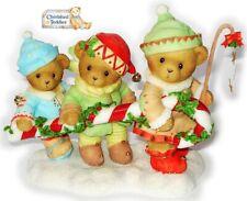 Cherished Teddies 2007 Figurine Adam Karen Katelyn Elves Candy Cane 4008155