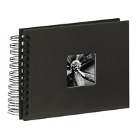 "Hama ""Fine Art"" Spiral Album 24 x 17 cm 50 Black Pages Black"