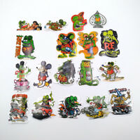 19 Styles Rat Fink Classic Hot Rod Vinyl Big Daddy Ed Roth Bike Laptop Stickers