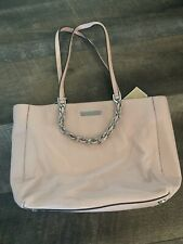 Michael Kors Harper Pink Leather Silver Shoulder Bag Tote Brand New With Tags
