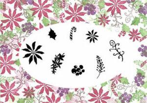 Card-io Poinsettias and Peppermints Majestix Clear Peg Stamps CDMAPO-01