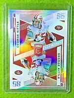 GEORGE KITTLE PRIZM CARD JERSEY #85 49ERS SP REFRACTOR 2019 Panini ELITE DECK sp