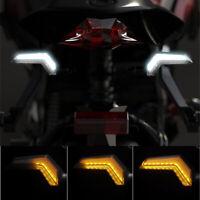 12V Motorrad LED Blinker Sequentiell Blitz Weiß Tagfahrlicht Wasserfest Universa