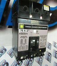 Square D FHB36070, 70 AMP, 600 VOLT, 3 POLE, GREY Circuit Breaker- WARRANTY