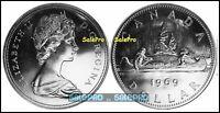 CANADA 1969 CANADIAN VOYAGEURS QUEEN ELIZABETH LARGE $1 DOLLAR COIN UNC