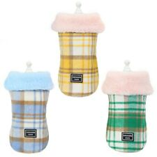 Winter Dog Coat Jacket Fur Collar Pet Clothes For Small Medium Dogs Costume Warm