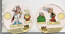 Lot 2 figurines Astérix. Vache GROSJEAN 1993. Le Village Astérix. (réf. 65/31)