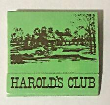 Harold's Club Restaurant & Lounge Lynwood, Illinois Matchbook
