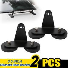 2x Powerful Mount Bracket Holder Strong Magnetic Base Roof LED Light Bar Offroad