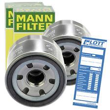 2x Original MANN Ölfilter Anschraubfilter für Smart Fortwo Cabrio Coupe / W 6011