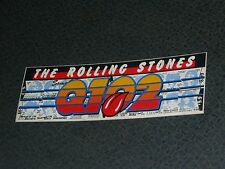 "The Rolling Stones Q102 Bumper Sticker As Pictured 10 1/2"" x 3 1/2"""
