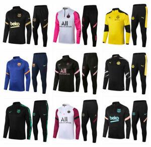 New Adult Men Football Survetement Sports Training Suit