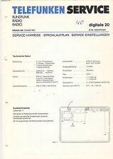 Telefunken Service Stromlaufplan Digitale 20   B1329