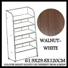 FAZT FURNITURE BOOKSHELF BOOKCASE SHOE RACK  MODERN WALNUT WHITE DESIGN SC-4206
