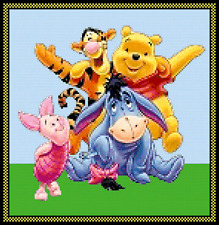 Disney Winnie the Pooh and The Gang Cross Stitch Chart
