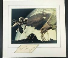 NASA Astronaut McDivitt Autograph Photo of Ed White Gemini 4 Space Walk EVA