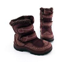Stiefel Elefanten Klettverschluss Boots Echtleder Textil weinrot Gr. 29