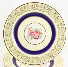 SET 11 BREAD SIDE PLATES JOHNSON BROS PAREEK JB114 CHINA COBALT BLUE GOLD FLORAL
