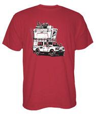 New Men's YETI Cooler Adventure Vehicle Short Sleeve T-Shirt Brick Red SMALL