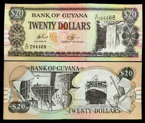 GUYANA 20 Dollars Year 2016 Banknote World Paper Money UNC