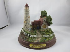 "Thomas Kinkade Seaside Memories ""The Light Of Peace"" Miniature Lighthouse Euc"