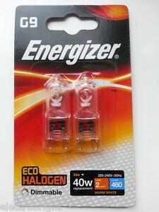 12x G9 33w=40w ENERGIZER ENERGISER DIMMABLE CLEAR ENERGY SAVING bulb Capsule UK