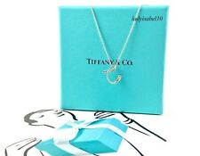 Tiffany & Co sterling Silver Letter C Initial Charm Pendant 16in Necklace 20710A