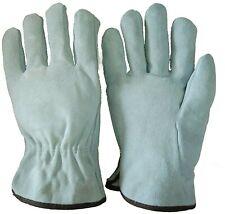 Safet Gloves 10 Inch Unibody Cow Split Leather Work Driver Garden Welding Gloves