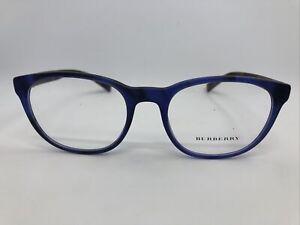 NEW Burberry B 2247 3615 Blue 52.19.140 Women's Eyeglass Frames