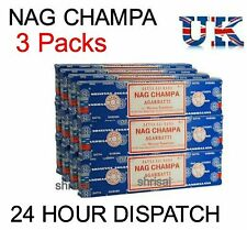 3 Packs Origional Satya Sai Baba Nag Champa Incense Sticks  Joss Insence Genuine