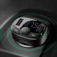 Sans fil Bluetooth 4.2 Transmetteur FM pr voiture Lecteur MP3 2 Chargeur USB  SH