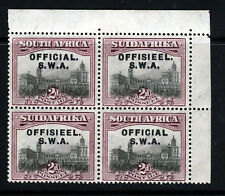 SOUTH WEST AFRICA KG V 1929 OFFICIAL 2d. BLOCK WITH OVAL PERFS SG O11 MINT