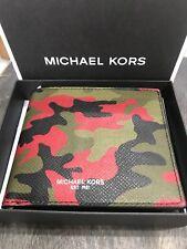 Michael Kors Hommes Kent Porte-cartes / ID Billet Portefeuille en Épice Orange