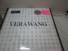 Vera Wang Luxurious Satin Weave Queen Sheet Set IKAT GEO ~ Gray Grey and White