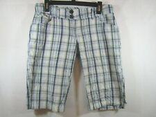 --- Element Size 5 Women's Blue Plaid Walking Shorts 5 Pockets