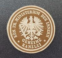 Siegelmarke Vignette Kön. Pr. Ministerium des Innern Geheime Kanzlei (8048-2)