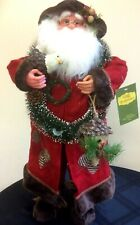 64CM RED TRADITIONAL STANDING FATHER CHRISTMAS SANTA FIGURE CHRISTMAS DECORATION