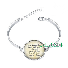 Jesus Christ glass cabochon Tibet silver bangle bracelets wholesale