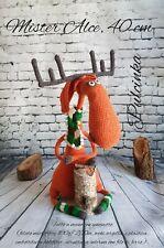 Alce Cervo Deer Pupazzo Giocattolo Handmade Amigurumi Uncinetto Crochet Knitting