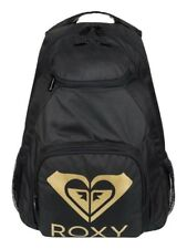 ROXY SHADOW SWELL SOLID Super cool Roxy  Backpack - KVJ0 BLK/GOLD  - NWT
