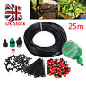 25M Automatic Drip Irrigation System Kit Timer Manual Auto Watering Garden Hose