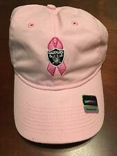 Brand New Reebok Oakland Raiders BREAST CANCER AWARENESS Hat - Adjustable
