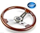 Nrg Wood Grain Steering Wheel Chrome Center 3 Spoke St-015-1ch