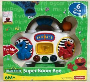Fisher-Price Sesame Street Super Boom Box in Original Box - Pre-Owned